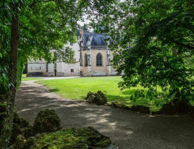 La chapelle de Meillant vu du parc