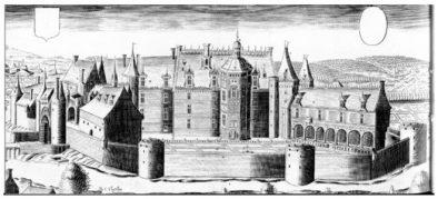 Gravure Claude Chastillon Château de Meillant 1473
