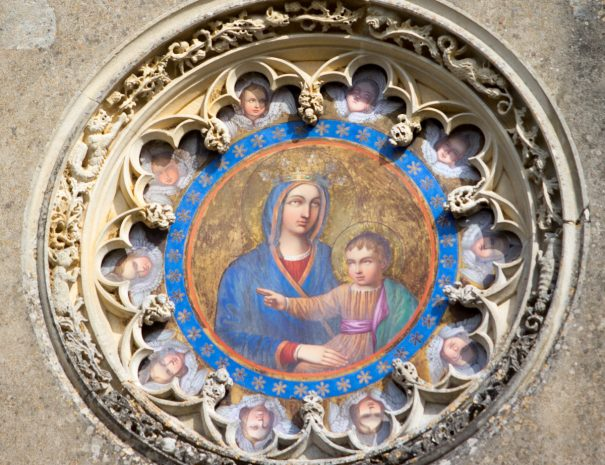 Icône sur le mur de la chapelle de Meillant