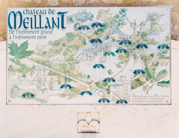 Plan du parc de Meillant