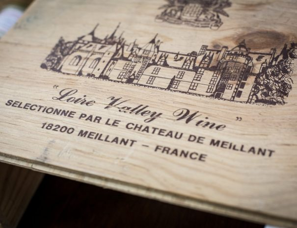 Caisse de vin du château de Meillant