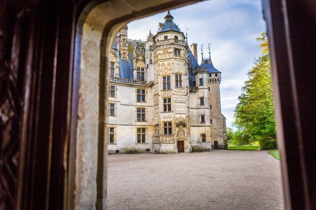 vu du chateau de Meillant depuis la chapelle