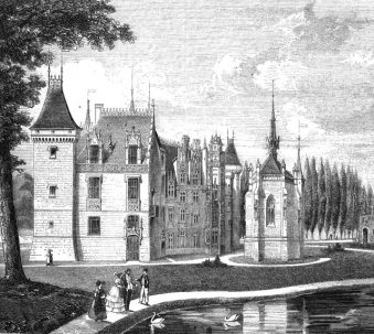 Lithographie du château de Meillant 1850