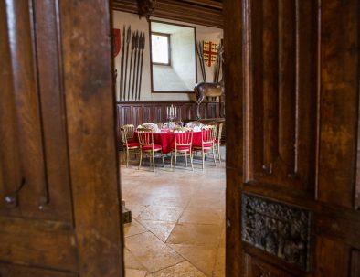 entrée salle gardes Château de Meillant