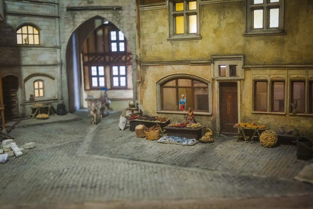 Scène miniature moyen age