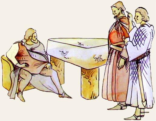 Dessin de la table des Seigneurs Meillant