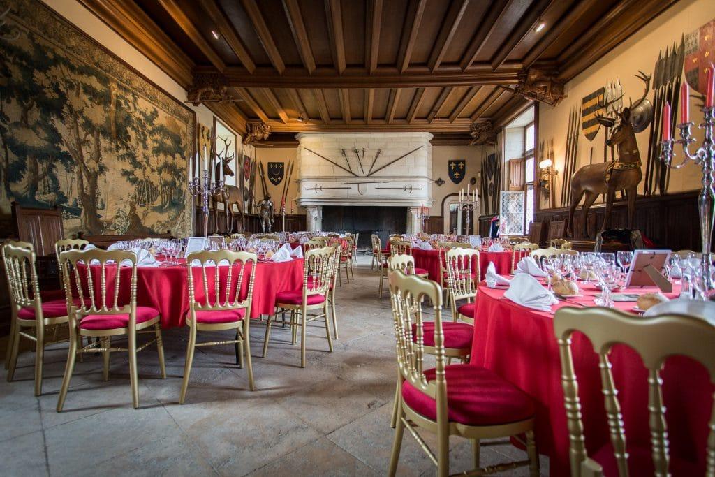 salle des gardes château de Meillant
