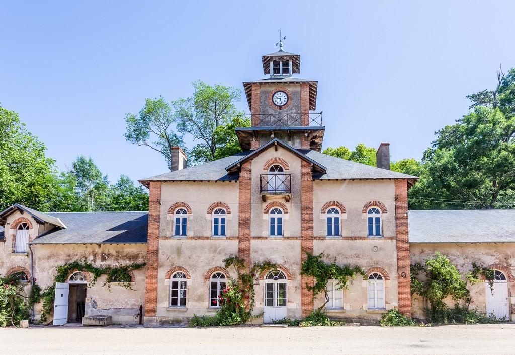 la sellerie dans le parc du château de Meillant