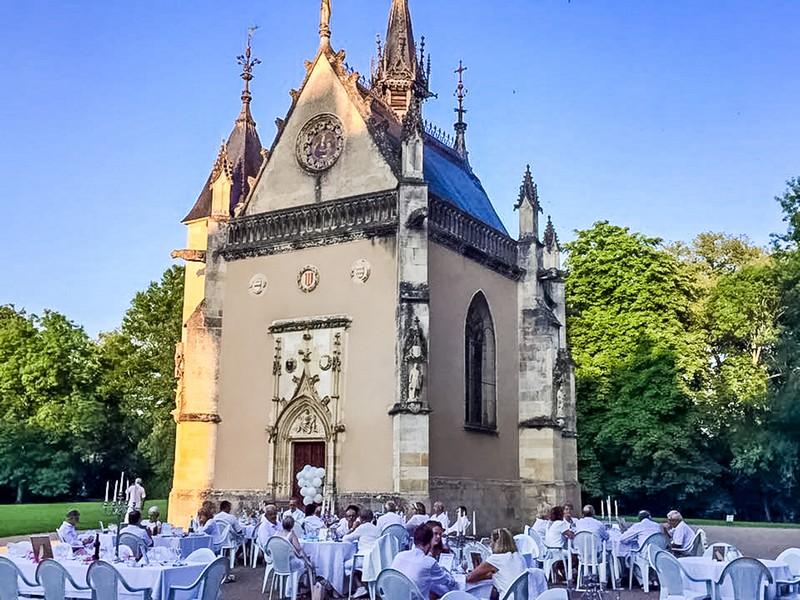 façade de la chapelle du château de Meillant