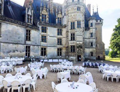 cour d'honneur du château de Meillant