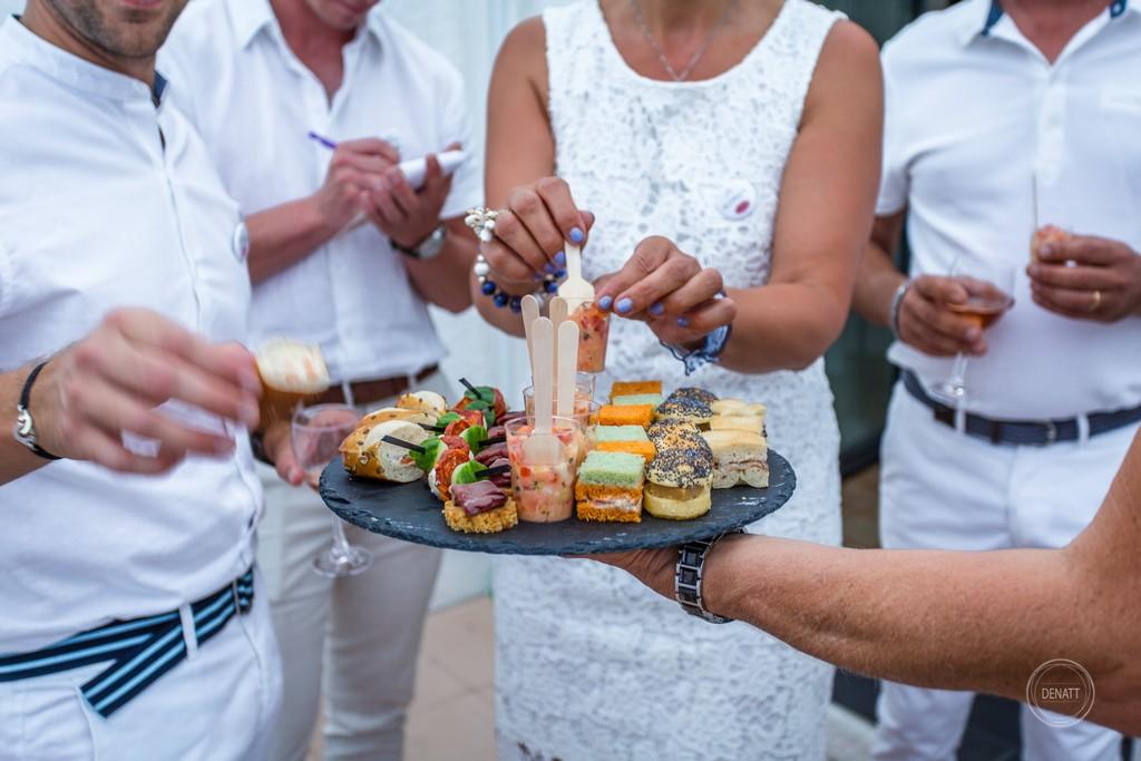 cocktail au château de Meillant pour un mariage